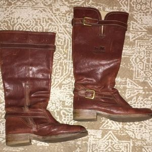 Coach Womens Whitley Leather Riding Boots Size 7.5